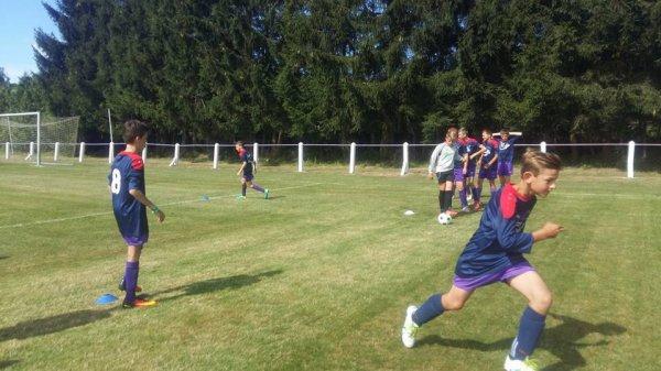 25e article : reprise championnat en jeunes : u14 à Gedinne , u7 - u10 - u11