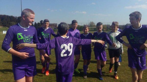 105e article ; les matchs du samedi : dernier match championnat en cadet U14 : Schaltin-Flavion place a la fete des champions :)