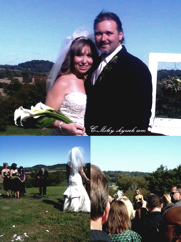 -   Miley au mariage de son oncle.    Miley est partie à Nashville pour le mariage de son oncle, bien sûr nous souhaitons beaucoup de bonheur au jeunes mariés. Sa tenue : Miley très belle dans la tenue de demoiselle d'honneur .