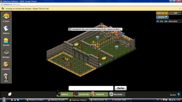 La mon dernier apparte conçue qui s'appelle Temple Maya