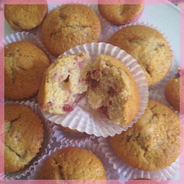 Muffins moelleux a la fraise ?