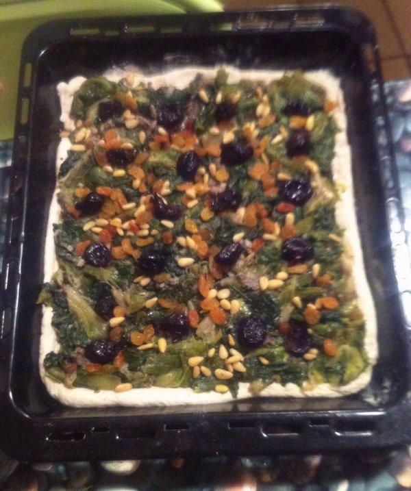 Pizza à la salade de ma maman
