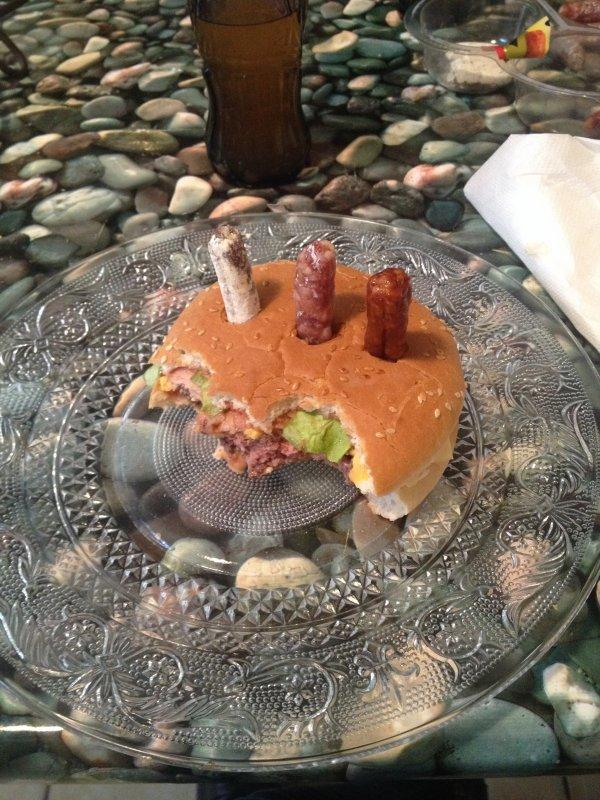 hamburger d'anniversaire