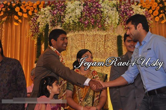 Jeyam Ravi at Kalyanam's Son Wedding Reception