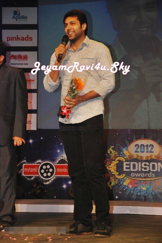 Jayam Ravi  @ Edison Awards 2012