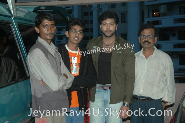 Jeyam Ravi Spotted with fans