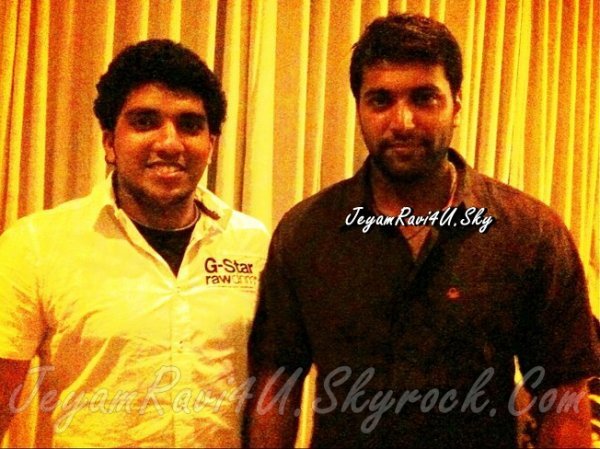 jeyam ravi with fan