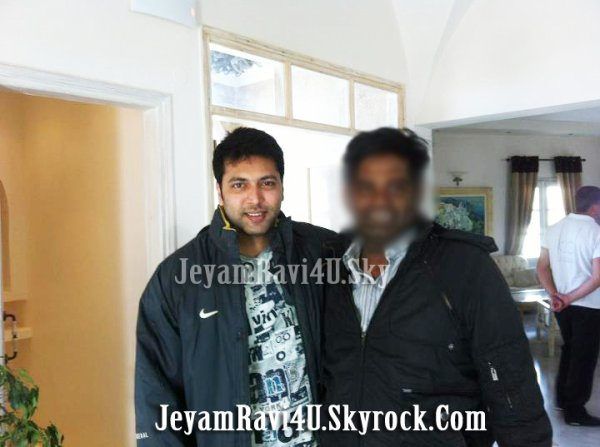 EXCLUSIVE Jeyam ravi with a fan from Greece vacations