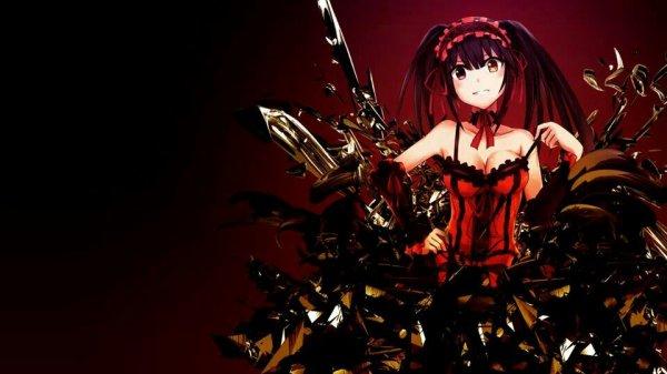 Red manga girl