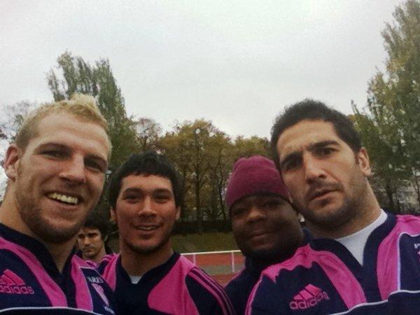 James Haskell, Martin Rodriguez Gurruchaga, Mathieu Bastareaud & Juan Manuel Leguizamon
