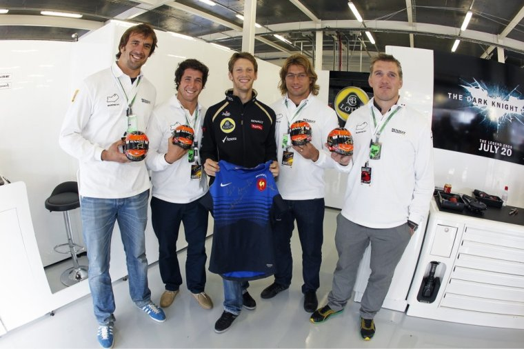 Julien Pierre, Maxime Machenaud, Romain Grosjean, Dimitri Szarzewski & Sylvain Marconnet