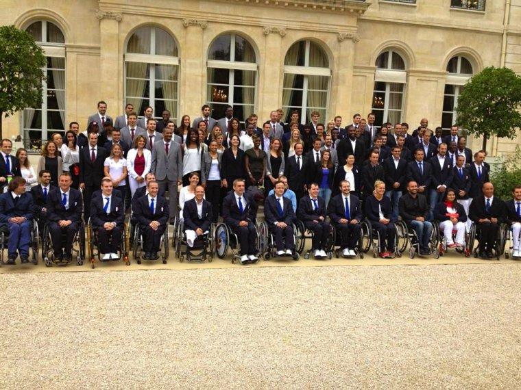 Les médaillés français olympiques & paralympiques à l'Elysée