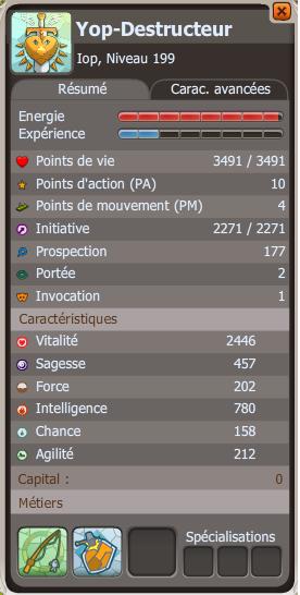Yop-Destructeur - Mes stats.