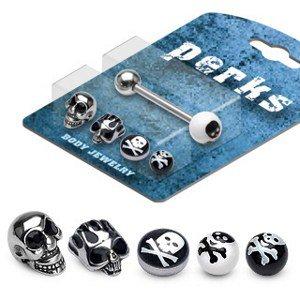 Pack de piercing et embouts langue - 010