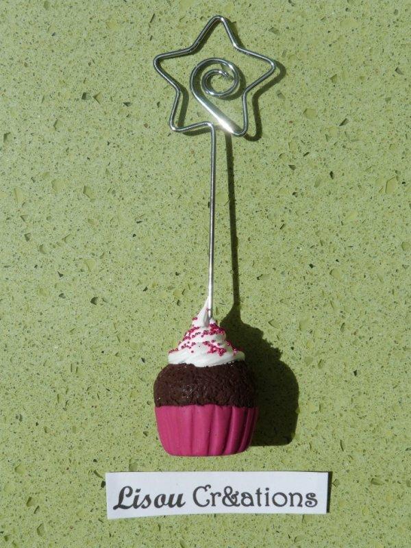 Porte photo Cupcake Rose