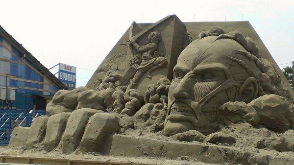 Sculpture en sable l'attaque des titan ^O^