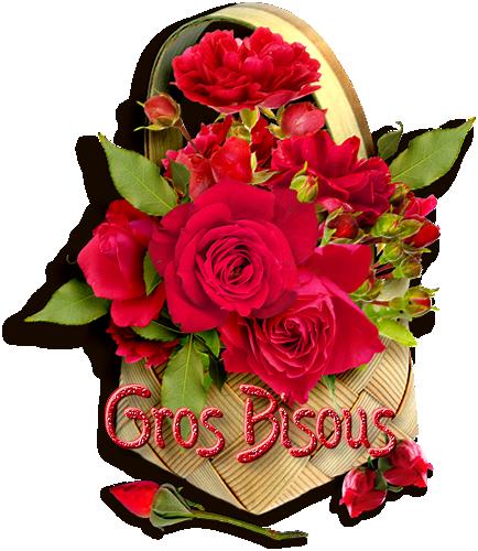 Pour vous mes amies la rose de l'amour,