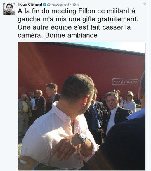 Des journalistes agressés, lors d'un meeting à Paris
