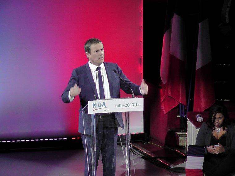 Le président de Debout la France, emploie toutes ses forces pour convaincre les indécis