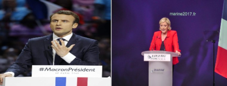 Macron et Le Pen un duel très serré au second tour