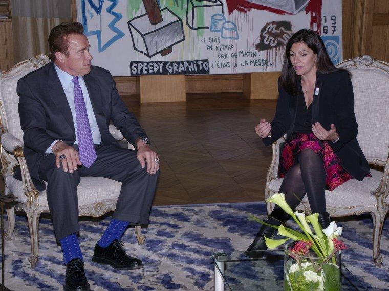 Arnold Schwarzenegger et Anne Hidago unis contre le dérèglement climatique