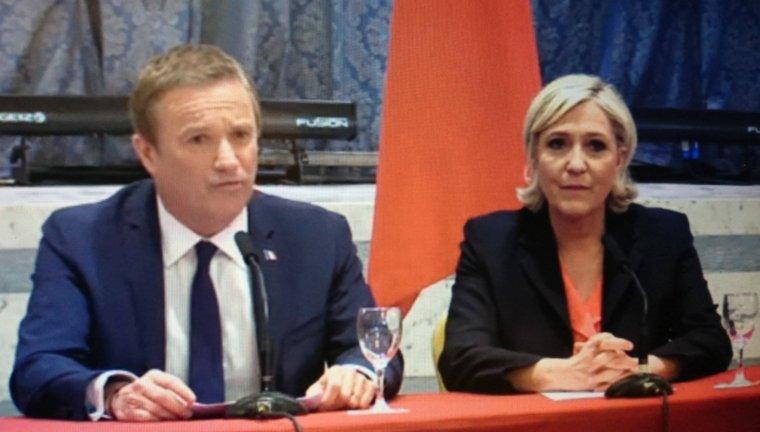 PRÉSIDENTIELLE 2017 /  UNE ALLIANCE INÉDITE: Nicolas Dupont-Aignan sera Premier ministre si Marine Le Pen est élue