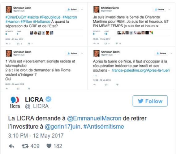 La République en marche suspend un candidat