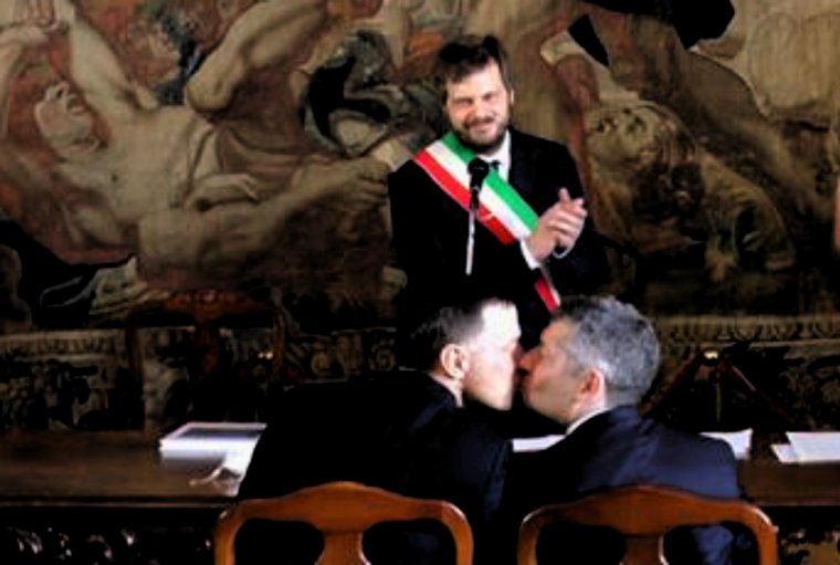 Ivan Scalfarotto a épousé son compagnon à Milan