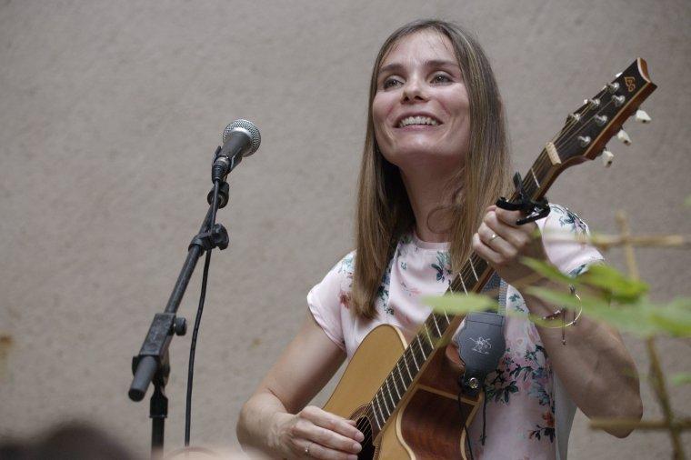 Pascale Olivier s'est produite en concert au Musée Agathois à Agde