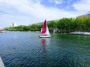 Inauguration des bassins à Paris Plages Villette