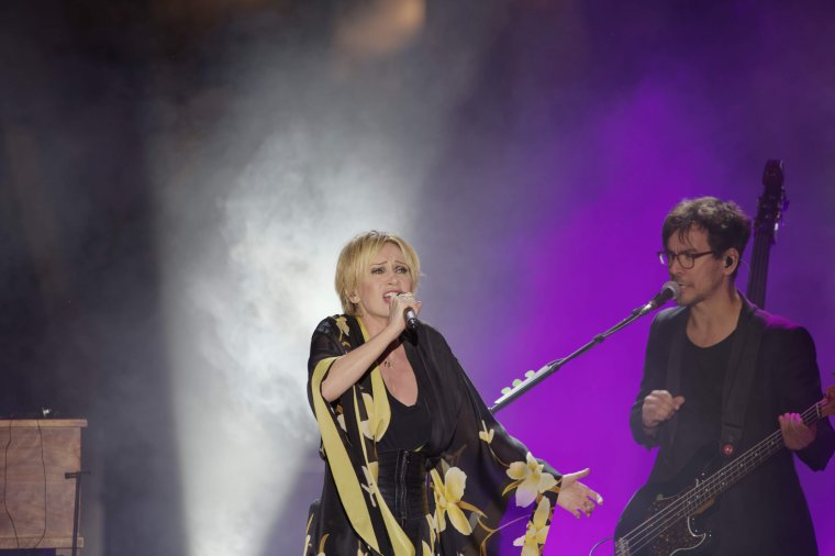 Patricia Kaas s'est produite en concert sur la scène flottante d'Agde
