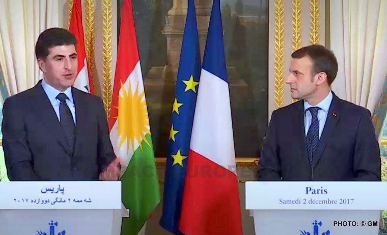 Emmanuel Macron a reçu samedi à l'Elysée, Nechirvan Barzani et affirme son soutien à l'intégrité de l'Irak
