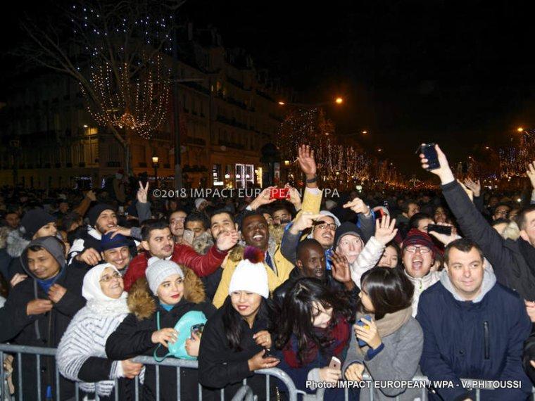 La Nouvelle Année 2018 fêtée sur l'Avenue des Champs-Élysées