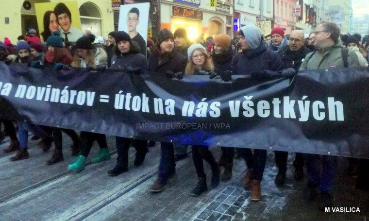 L'hommage au journaliste Jan Kuciak, assassiné alors qu'il enquêtait sur la mafia