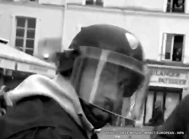 Un collaborateur de Macron frappant un manifestant, le 1er mai à été suspendu  quinze jours