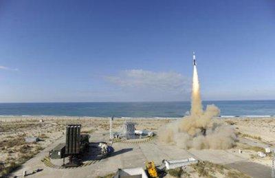 """1er tir de qualification du SAMP-T face à une menace type """"missile balistique de courte portée"""""""