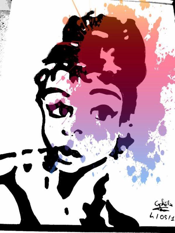 Portrait d'Audrey Hepburn