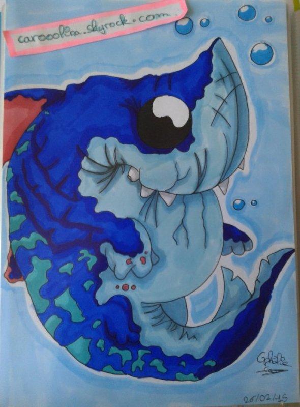dessin concours requin