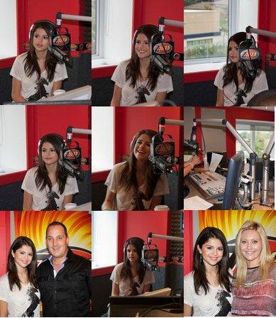 Le 24 août, Selena est passé dans la station radio Z 103.5