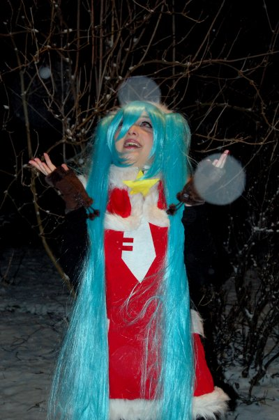 *Cosplay Miku Hatsune Xmas-Hatsune Miku: Project Diva*