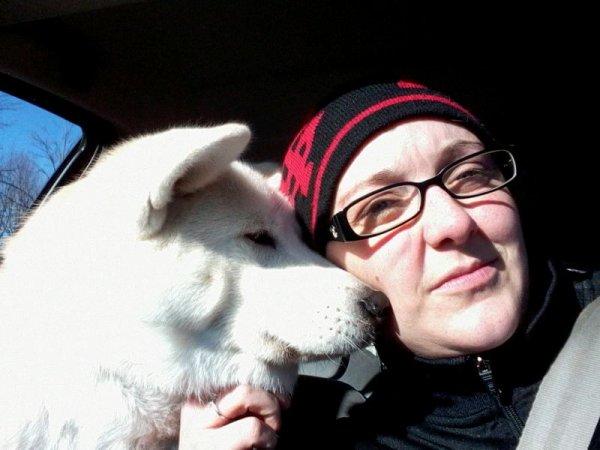 Avec mon chien d'amour