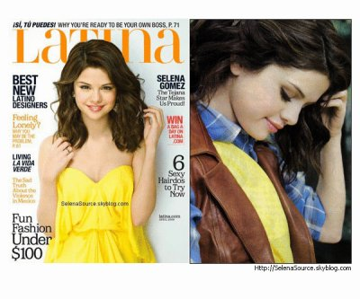 """Selena Gomez fait la couverture du magazine """"Latina"""" du mois d'octobre 2010"""