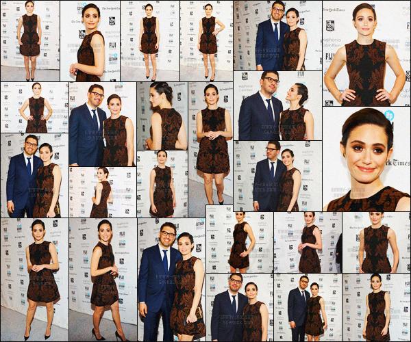 - 30/11/15 - Emmy Rossum était présent lors du « 25th IFP Gotham Idependant Film » avec son fiancé Sam ! Emmy était accompagnée de son fiancé Esmail pour la représentation de la série de celui-ci, Mr. Robot ! Cet événement avait lieu à  New-York City. -