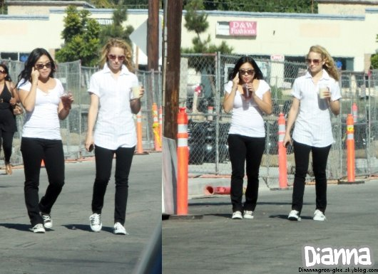 Le 26 Aout  Dianna était sur le plateau de Glee