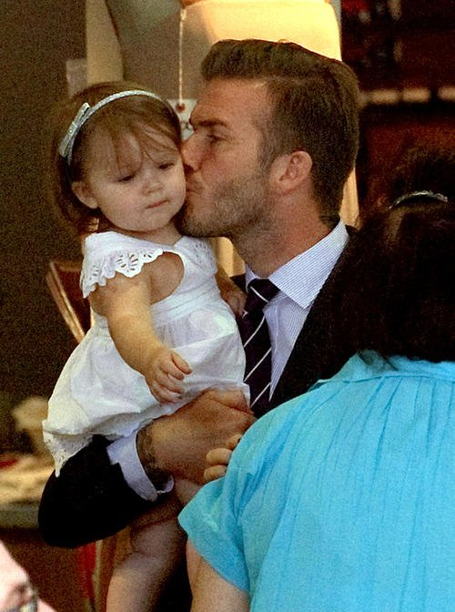 David Beckham et Harper trop cut