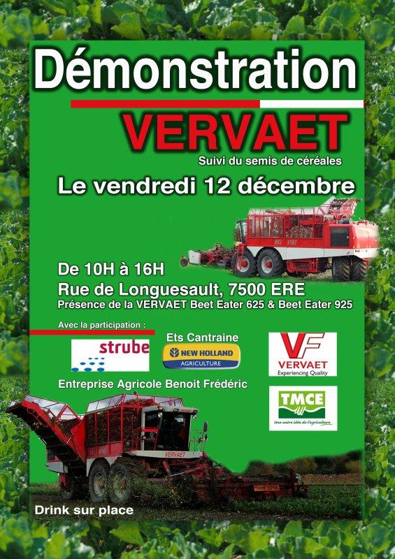 démonstration Vervaet le 12 décembre