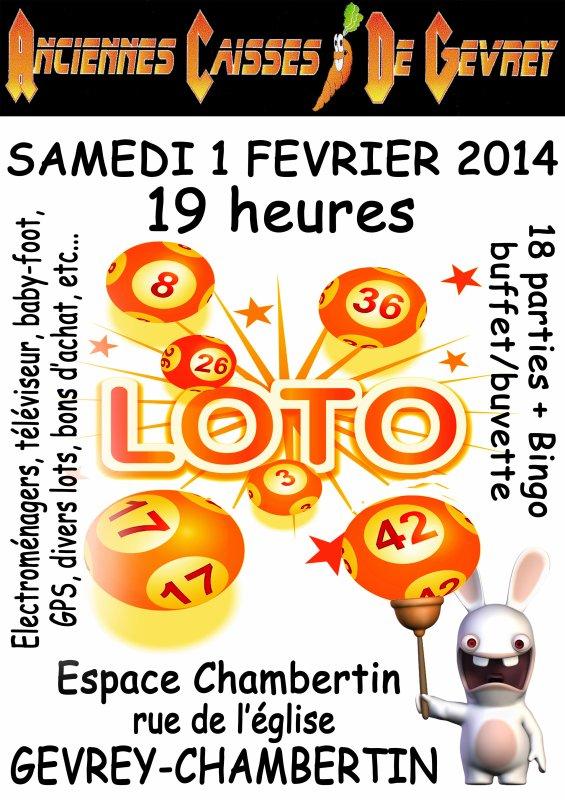 Loto à Gevrey - 01/02/2014