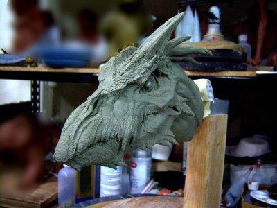 Têtes de dragons.