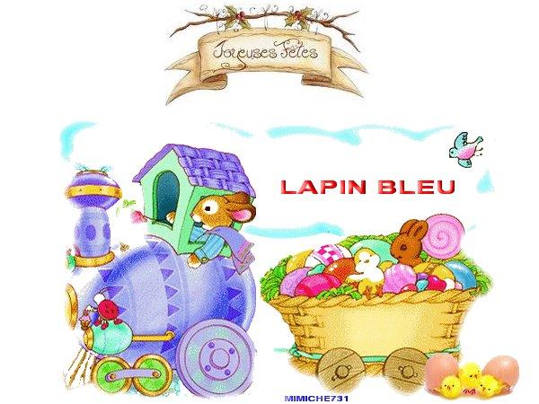 paques minouche89130,mamyewa,lapin bleu
