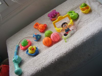 Nos cadeaux (jouets de bain)